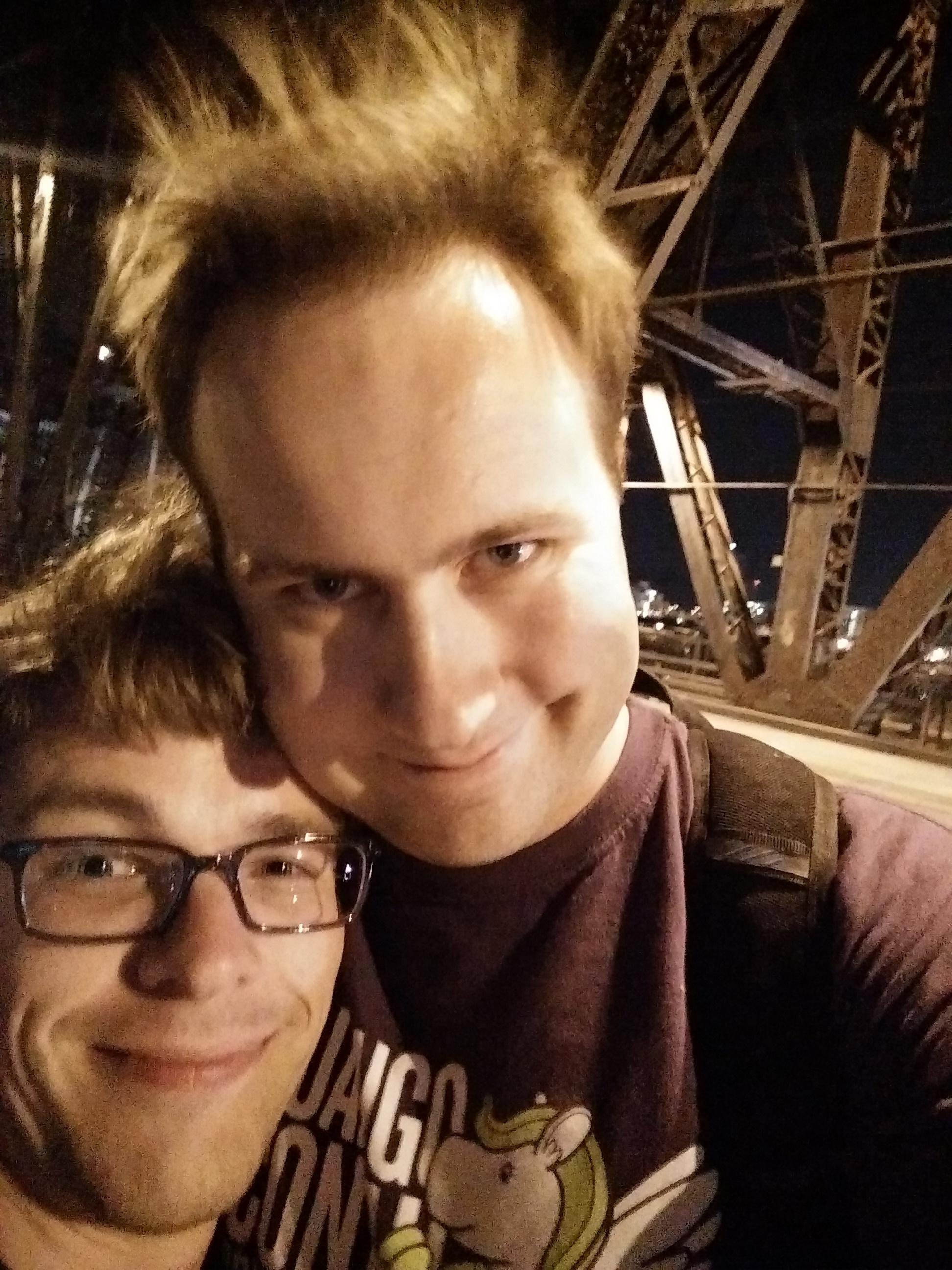 Chris and Josh on the Steel Bridge
